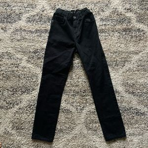 Boys Black Skinny jeans with elastic waist size 14